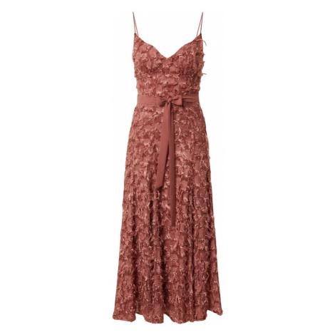 Forever Unique Sukienka koktajlowa brązowy