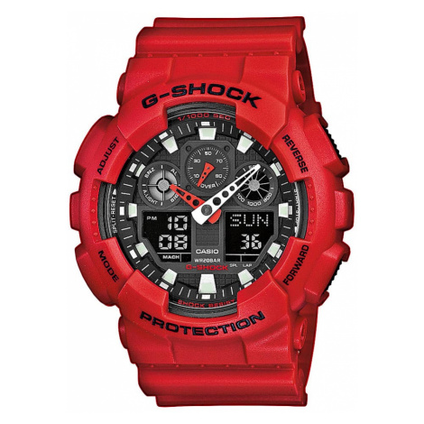 Zegarek G-SHOCK - GA-100B-4AER Red/Red Casio