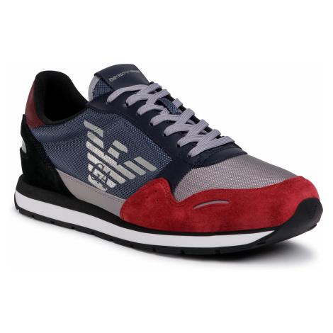 Sneakersy EMPORIO ARMANI - X4X215 XM561 N234 Ruby/Rust/Grey Light