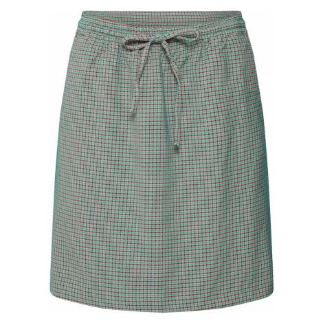 Re.draft Spódnica 'Jaquard Skirt' zielony / czerwony / czarny