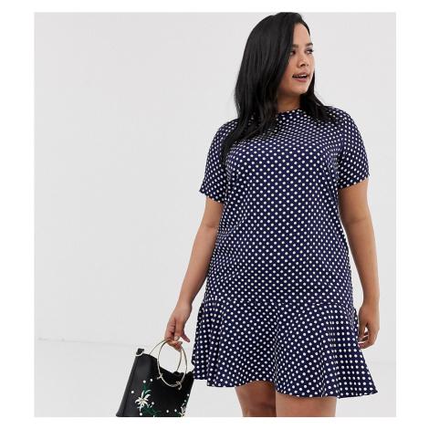 AX Paris Plus polka dot drop waist dress