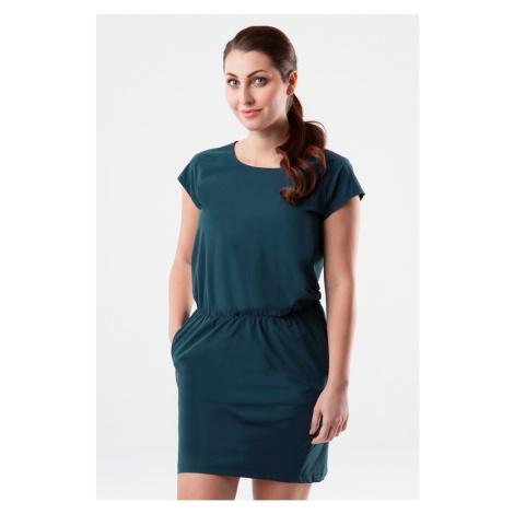 Zielono-niebieska sukienla LOAP Umbria