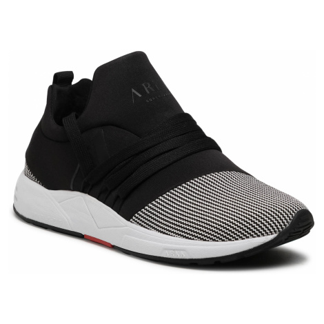 Sneakersy ARKK COPENHAGEN - Raven Mesh Pet S-E15 IL1400-0099-W Black/White