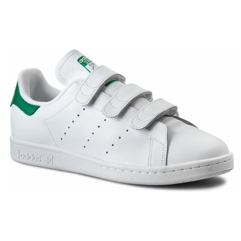 Buty adidas - Stan Smith CF S75187 Ftwwht/Ftwwht/Green