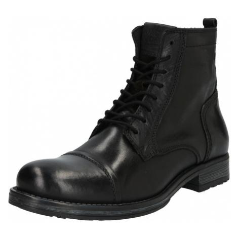JACK & JONES Buty sznurowane czarny / antracytowy
