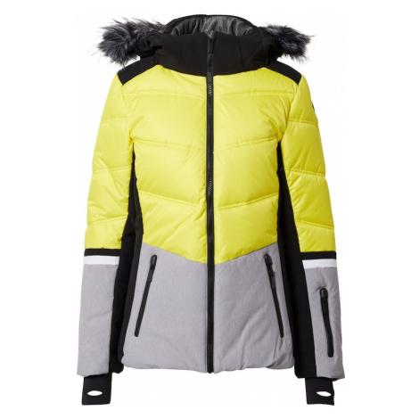 ICEPEAK Kurtka outdoor 'Electra' żółty / nakrapiany szary / czarny
