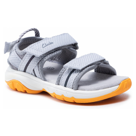 Sandały CLARKS - Expo Sea T 261576707 Grey Synthetic