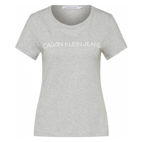 Calvin Klein Jeans Koszulka 'INSTITUTIONAL LOGO' jasnoszary / biały