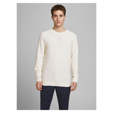 Jack & Jones kremowy sweter męski