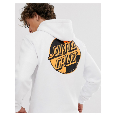 Santa Cruz Crash Dot hoodie with back print in white
