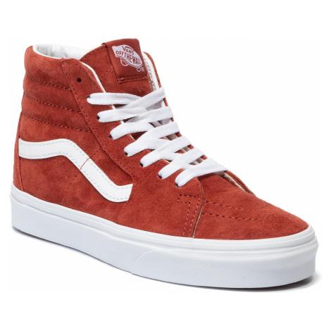 Sneakersy VANS - Sk8-Hi VN0A4BV6V751 (Pig Suede) Brnt Brcktrwht