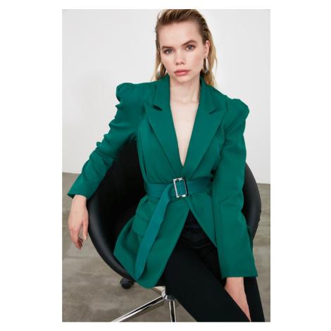 Trendyol Green Waist Belt Jacket