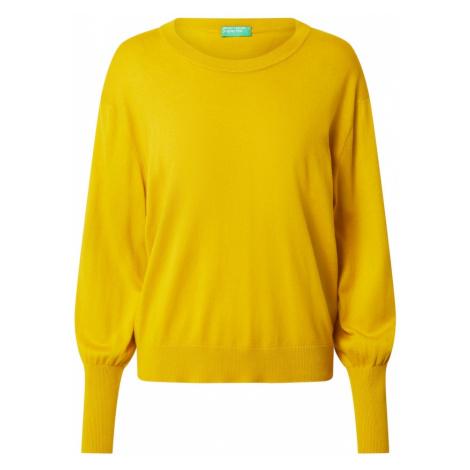 UNITED COLORS OF BENETTON Sweter złoty żółty