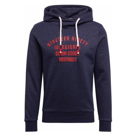 JACK & JONES Bluzka sportowa 'BRANDON' granatowy / czerwony