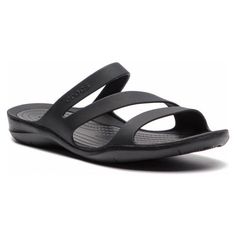 Klapki CROCS - Swiftwater Sandal W 203998 Black/Black