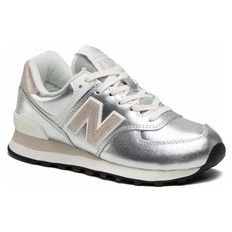 Sneakersy NEW BALANCE - WL574PR2 Srebrny