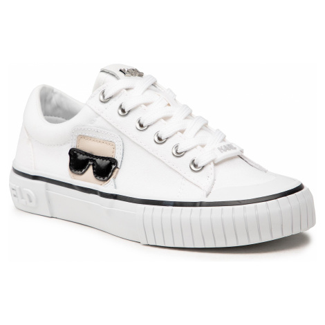 Sneakersy KARL LAGERFELD - KL60210L White Canvas 911