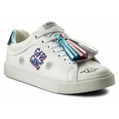Sneakersy PEPE JEANS - Adams Tassels PGS30329 White 800