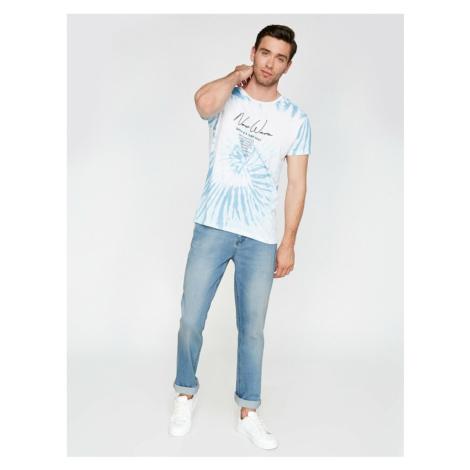Koton Male Blue Normal Waist Normal Cut Straight LegJean