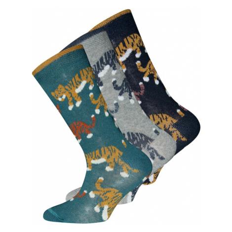 EWERS Skarpety szary / nefryt / mieszane kolory / niebieska noc / jasnobrązowy
