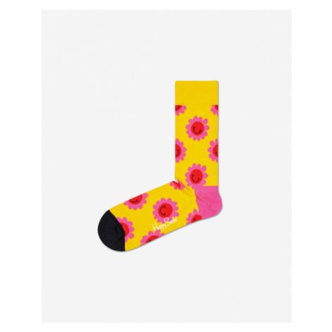 Happy Socks Smile Flower Skarpetki Żółty