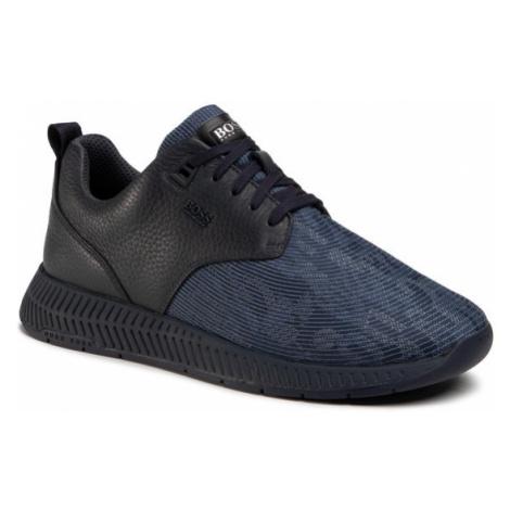 Boss Sneakersy Titanium 50446672 10232897 01 Granatowy Hugo Boss