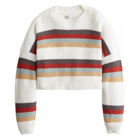 HOLLISTER Sweter żółty / biały / czerwony