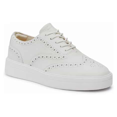 Sneakersy CLARKS - Hero Brogue. 261493944 White Leather