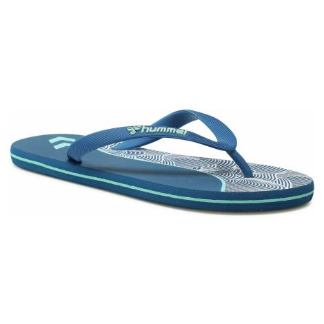 Japonki HUMMEL - Wave Block Flip Flop 211370-8587 Mykonos Blue