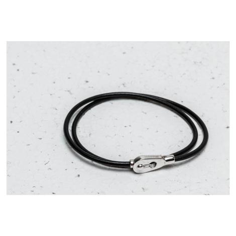 Miansai Centra Leather Wrap Bracelet Silver