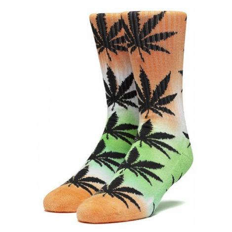 Skarpetki HUF Tiedye Plantlife Sock SK00488 ELECTRIC ORANGE