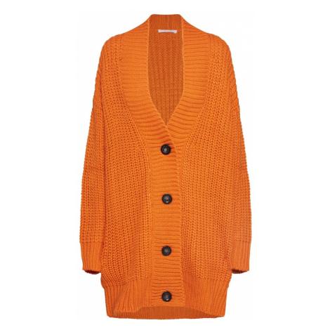 BE EDGY Kardigan oversize 'Bebrittany' pomarańczowy