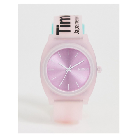 Nixon A119 Time Teller P silicone watch in pink