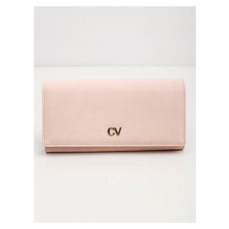 Podłużny portfel wykonany z ekologicznej skóry, jasnoróżowy