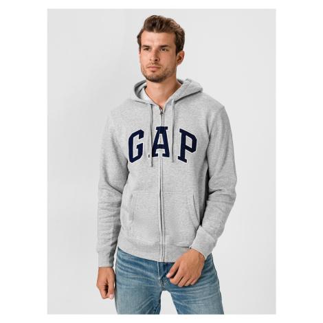 Bluza GAP Zip Logo Beżowa