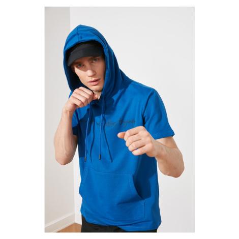 Modyl saks męski t-shirt z regularnym dopasowaniem Trendyol