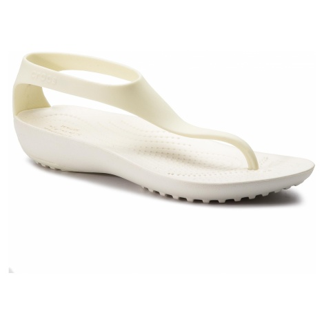 Sandały CROCS - Serena Flip W 205468 Oyster/Oyster