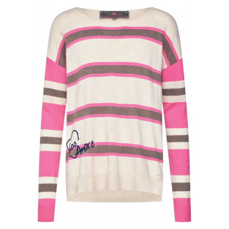LIEBLINGSSTÜCK Sweter 'AnnikaL' różowy / czarny / offwhite