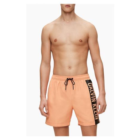 Calvin Klein pomarańczowy męski strój kąpielowy Medium Drawstring z logiem - XL