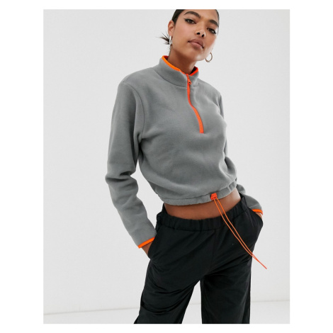 ASOS DESIGN fleece with contrast zip