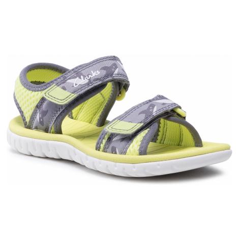 Sandały CLARKS - Surfing Tide K 261563587 Yellow