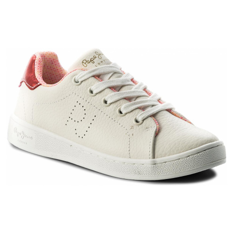 Sneakersy PEPE JEANS - Brompton Fp Girl PGS30337 White 800