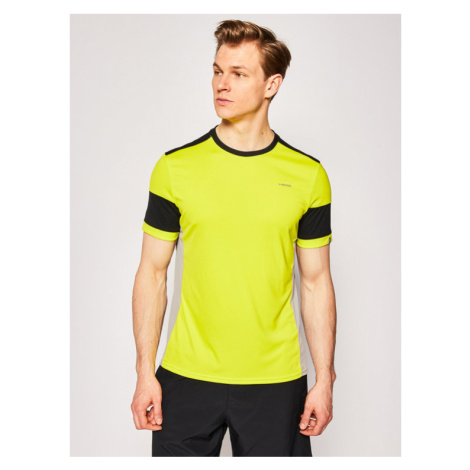 Head Koszulka techniczna Volley 811330 Żółty Regular Fit