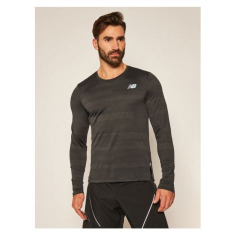New Balance Koszulka techniczna Q Speed Fuel Ls MT03262 Czarny Athletic Fit