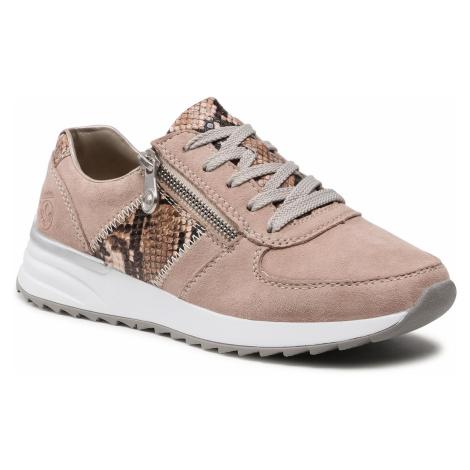 Sneakersy RIEKER - N8024-60 Beige