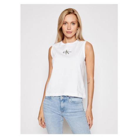 Calvin Klein Jeans Bluzka J20J216578 Biały Regular Fit