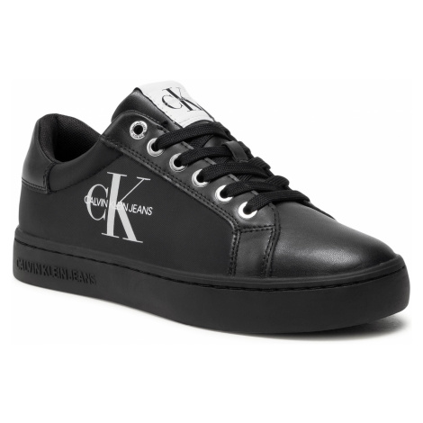 Sneakersy CALVIN KLEIN JEANS - Cupsole Sneaker Laceup Pu-Ny YW0YW00060 Full Black BEH