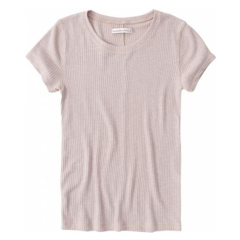 Abercrombie & Fitch Koszulka różowy pudrowy
