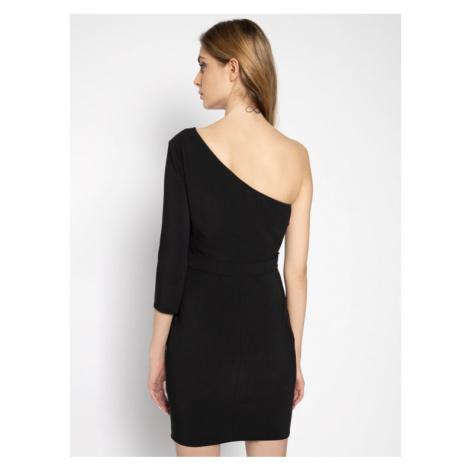 Elisabetta Franchi Sukienka koktajlowa AB-178-01E2-V289 Czarny Slim Fit