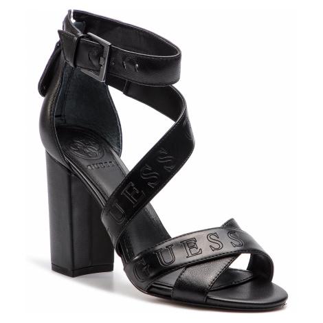 Sandały GUESS - Korra2 FL6KOR LEA03 BLKBL